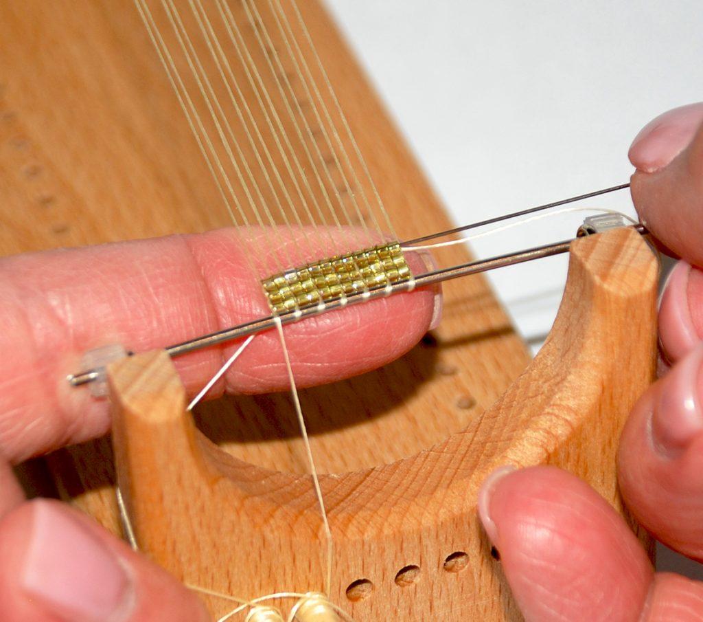 Beading Loom, free bead weaving project by Tammy Honaman. Step 3