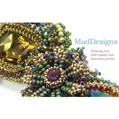 Marcia DeCoster's Logo: A top beading resource and website according to Interweave.
