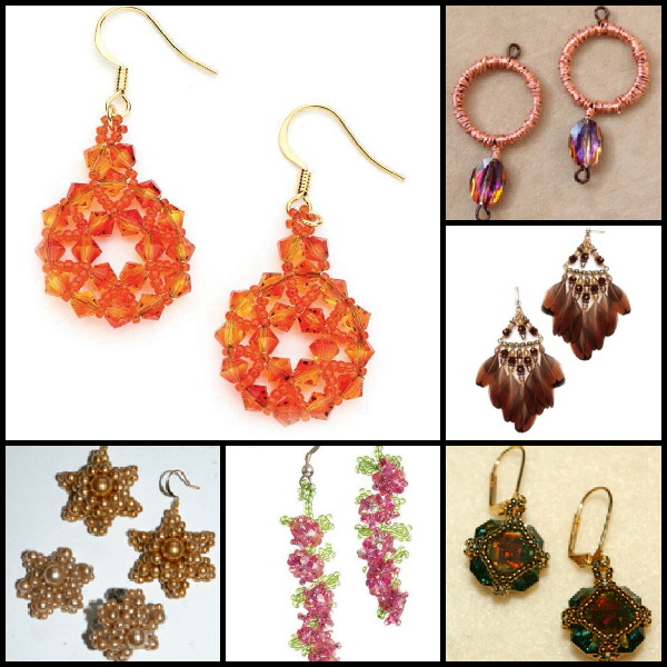 Free beading tutorial on how to make earrings!