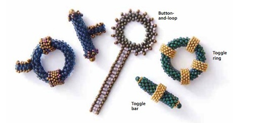 "From the ""Making and Attaching Clasps"" section of The Peyote Stitch Companion"