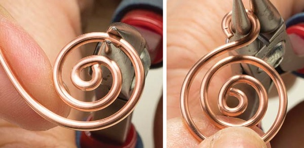 how to make perfectly smooth open spirals in wire