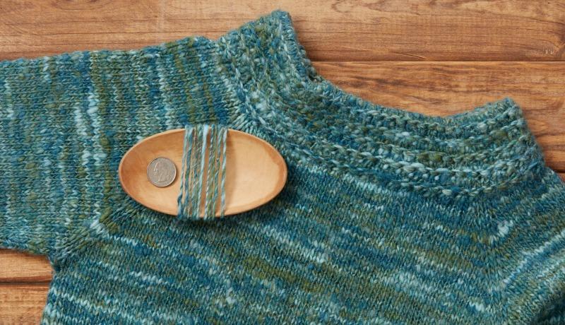 variegated yarn: malachite yarn