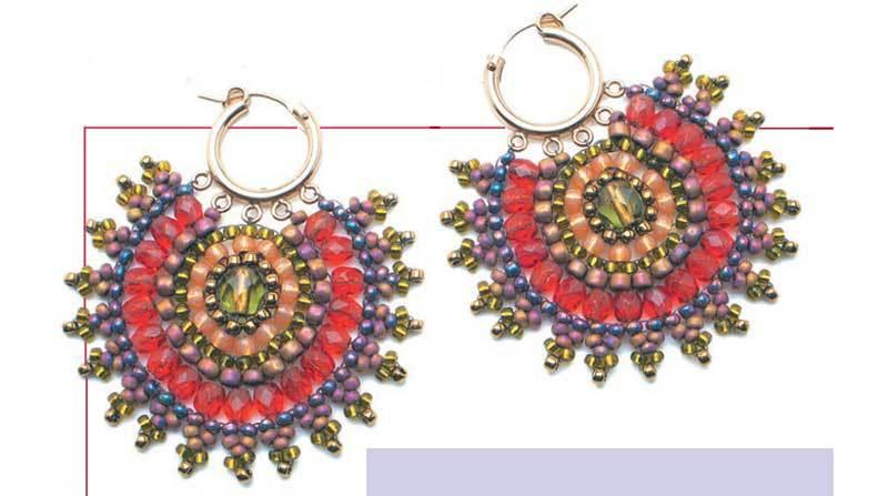 Mandala Magic Earrings by Maggie Roschyk