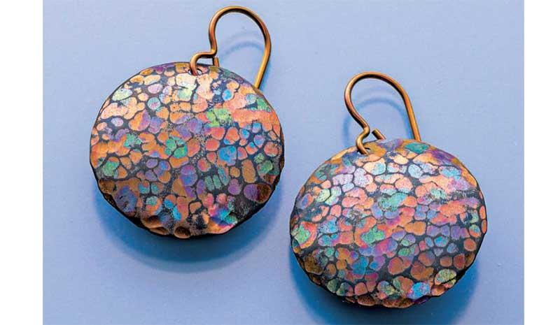 Andoized niobium metal earrings