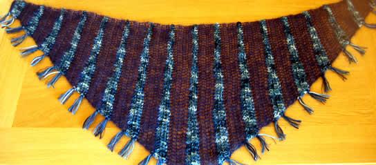 Mariefred scarf shawl