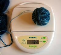 yarn on scale