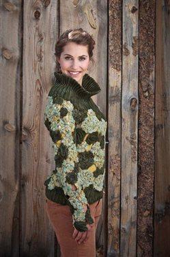 Inspired by Irish crochet this sweater is eye-catching.