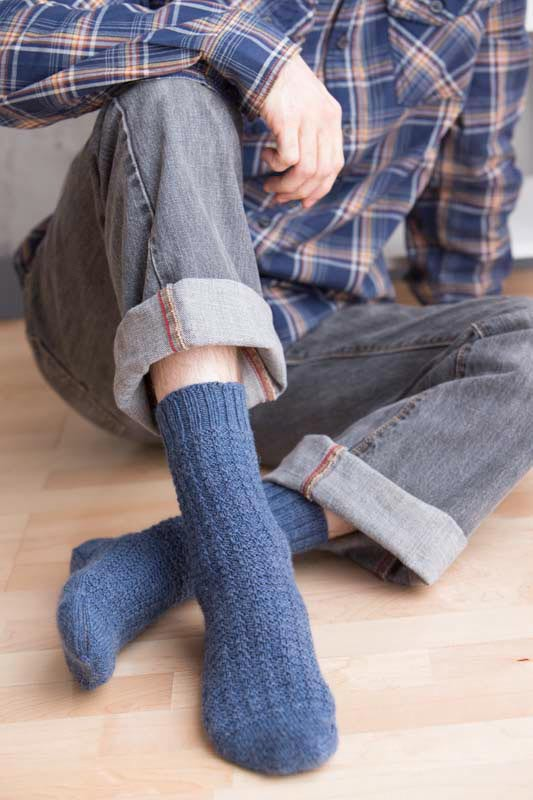 Learn how to knit socks that fit, such as the Marpleridge Socks.