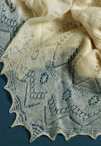 A gorgeous lace shawl to knit // needleworktraditions.com