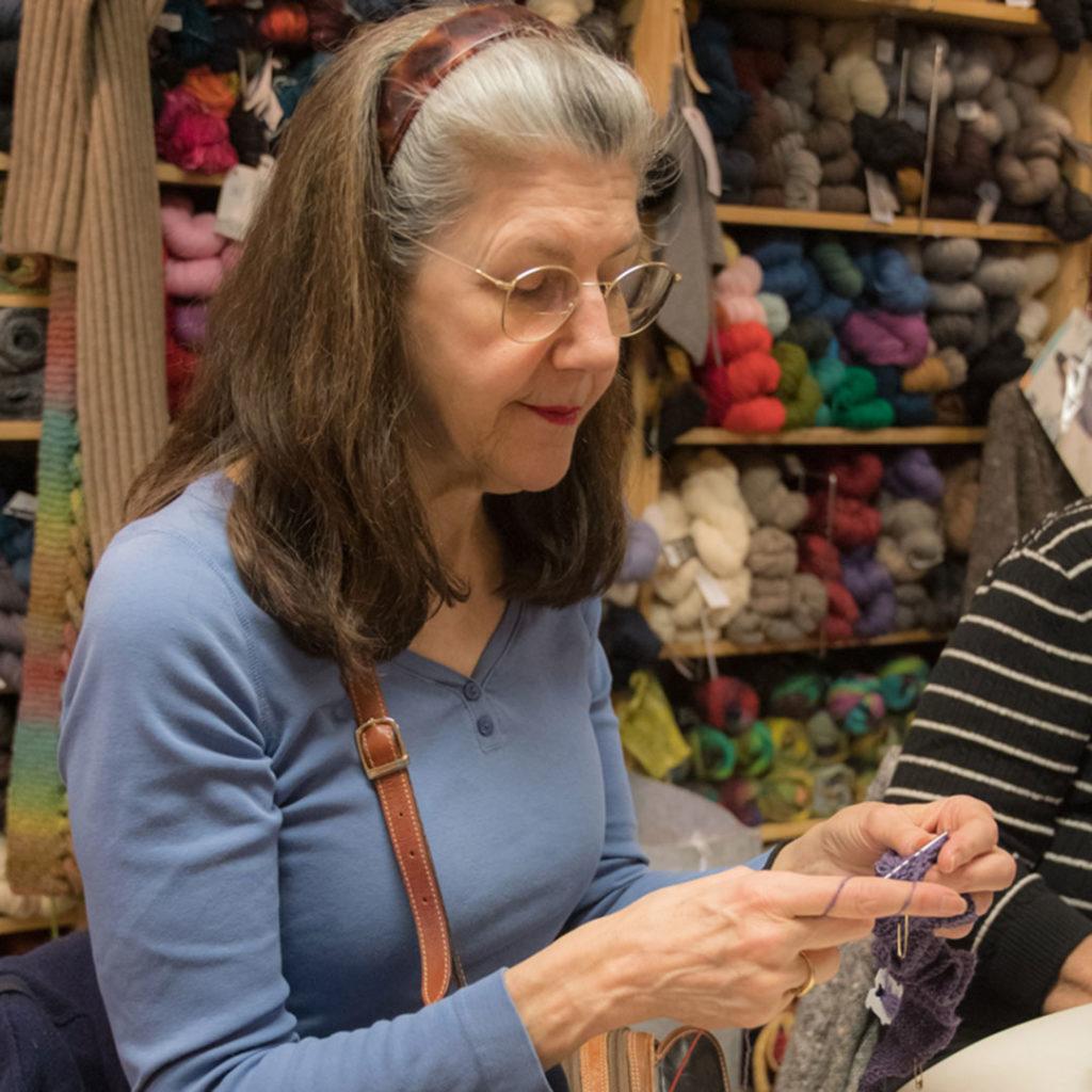 therapeutic knitting