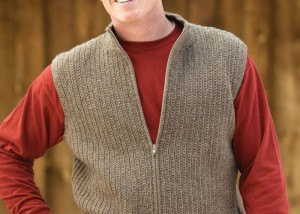 Make this crochet vest for men found in our eBook on 5 FREE crochet vest patterns.