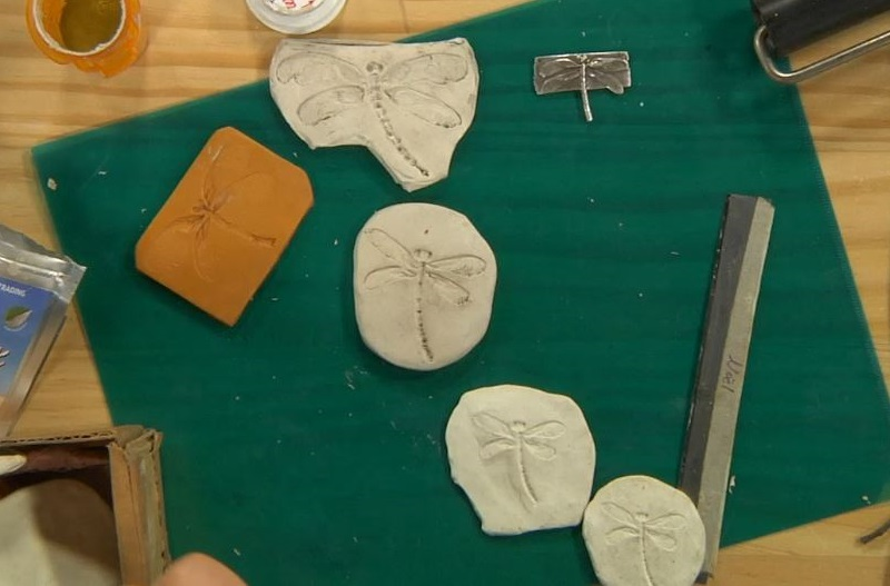 how to make a series of molds for metal clay jewelry