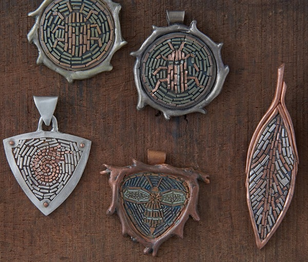metal clay jewelry making: make micromosaics with Patrik Kusek