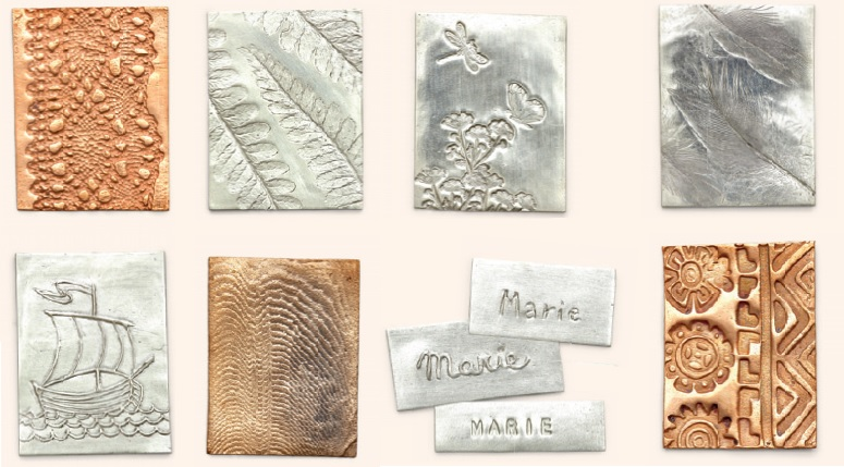 metal clay jewelry textures