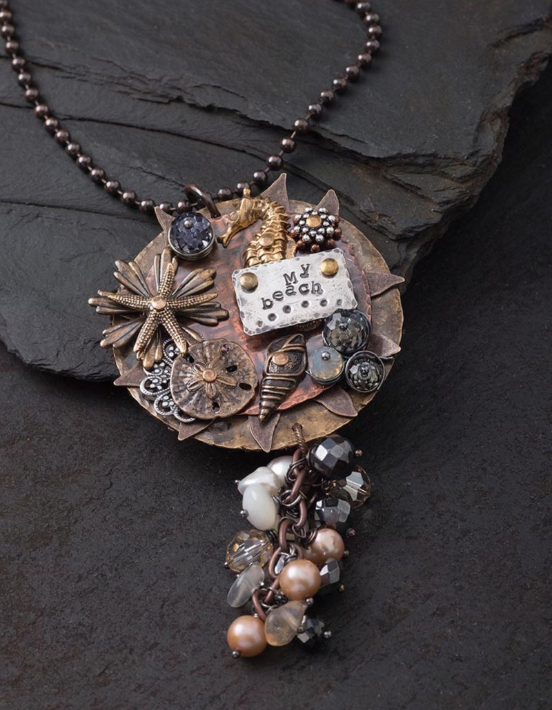 More experienced metal jewelry makers will enjoy making Tracy Stanley's Beautiful Sea Pendant.