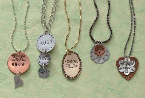stamped pendants by Lisa Niven Kelly