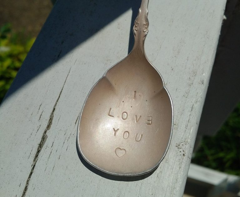 metal stamped jewelry and other gifts for mom: stamped silverware