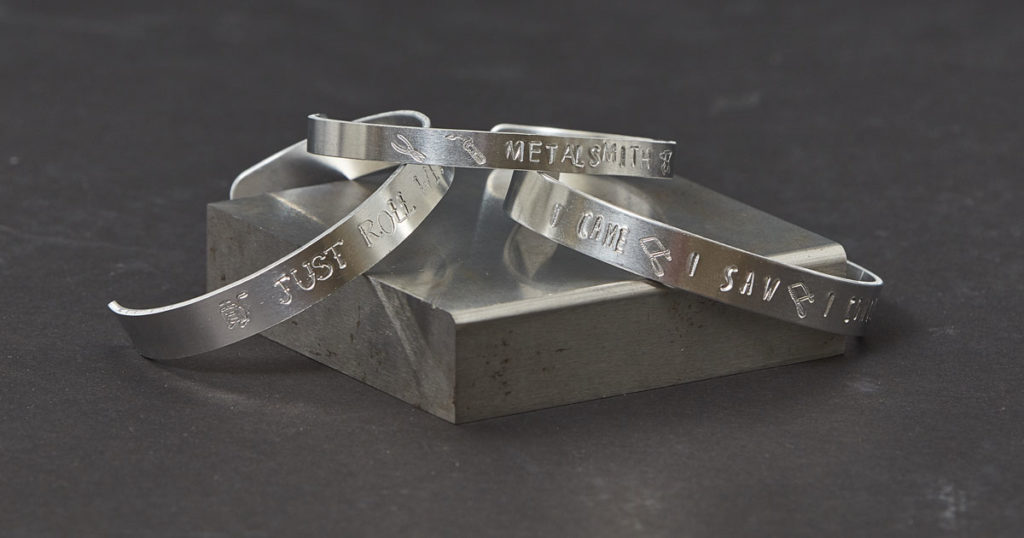 metal stamping bracelets with jewelry tools stamps