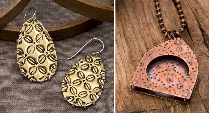 punched metal stamping designs from New Directions in Punched Metal Jewelry