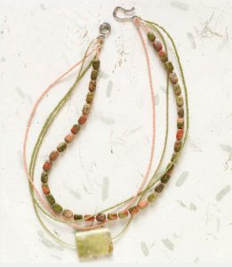 Mile Marker 219 by Annie Hartman Bakken is a gemstone jewelry necklace project found in our free Gemstone Jewelry eBook.
