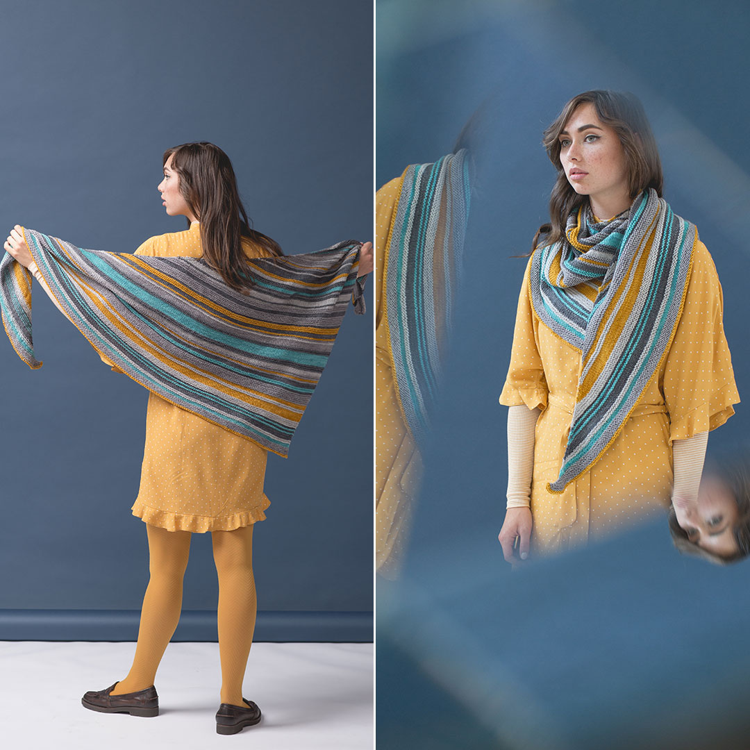 The Millcroft Shawl from knitscene Winter 2018, designed by Kim McBrien Evans. | Photo by Harper Point Photography