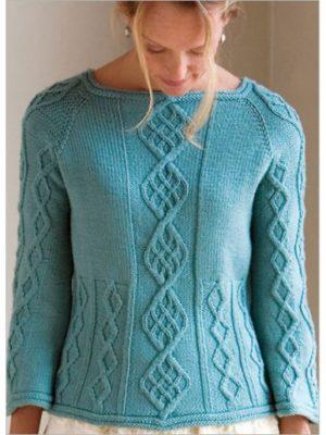 Cable-Down Raglan Knitting Pattern Download