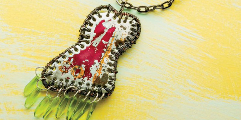 8 FREE Mixed-Media Jewelry Projects: How to Make Jewelry with Leather, Fabric, Paper, Glass and More