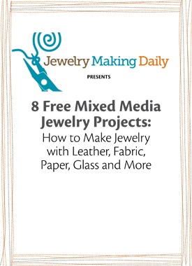 If you like mixed-media jewelry, then you'll LOVE these jewelry patterns that show how to make leather jewelry, fabric jewelry, paper jewelry and MORE.