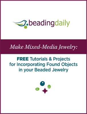 Learn how to make mixed media jewelry with found objects and incorporate them into your beaded jewelry in this free ebook.