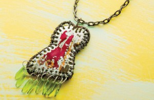 Learn how to make a pendant the simple way with this free, mixed-media jewelry design that uses recycled metal and other items into a vintage piece!
