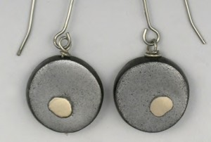 The Mixed Metal Clay Earrings are thick metal earrings and can be found in our free Metal Clay Jewelry eBook.