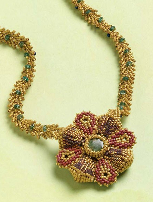 Monreale Necklace beadwork design by Maggie Meister