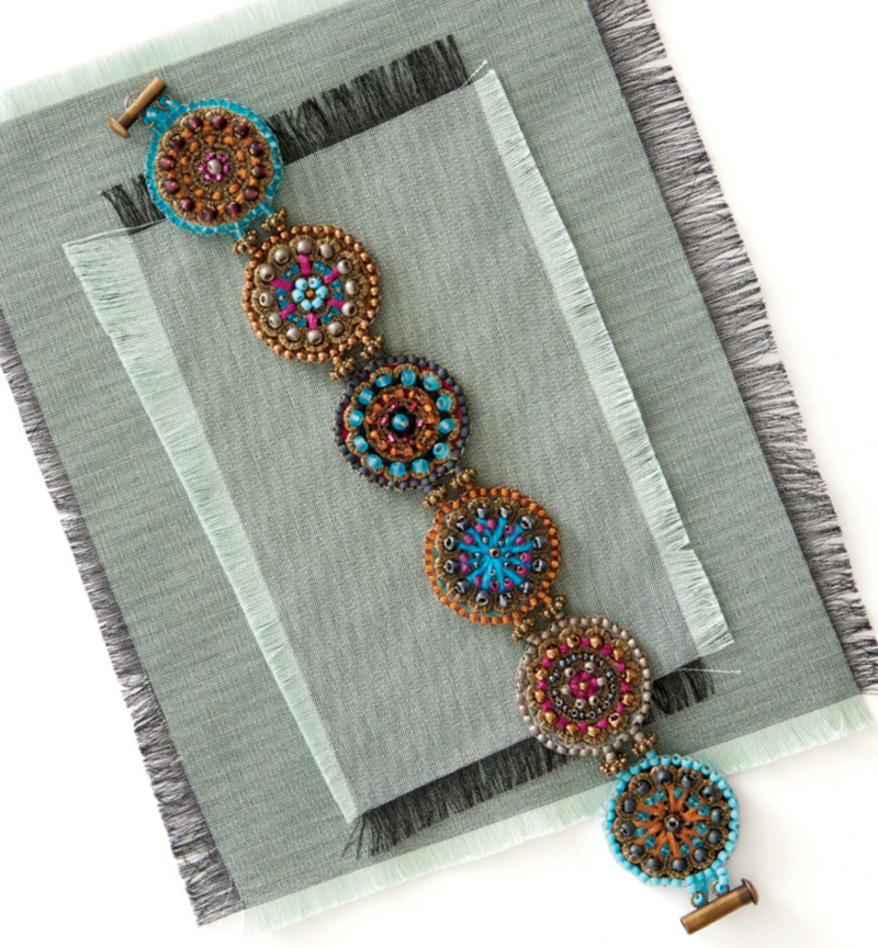 Moroccan Mosaics by Beth a. Moser. BeadingDaily Jewelry Stringing 2016 - 33 jewelry-making projects spanning 36 techniques