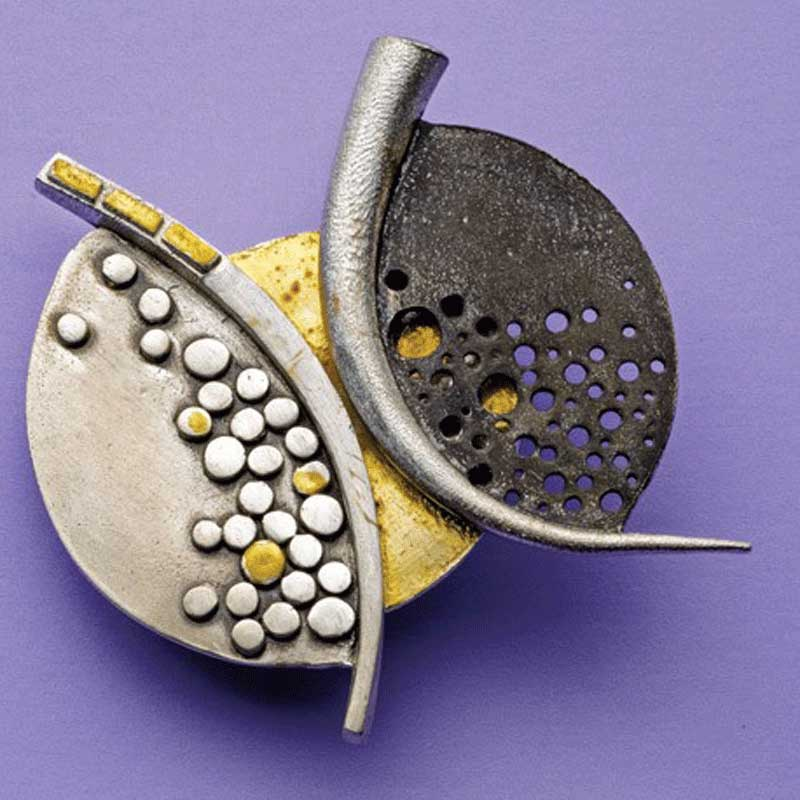 Favorite Project of the Week: Mosaic Metal Clay Pin
