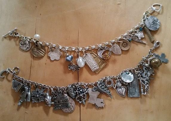 metal clay charm bracelet and other charm bracelets