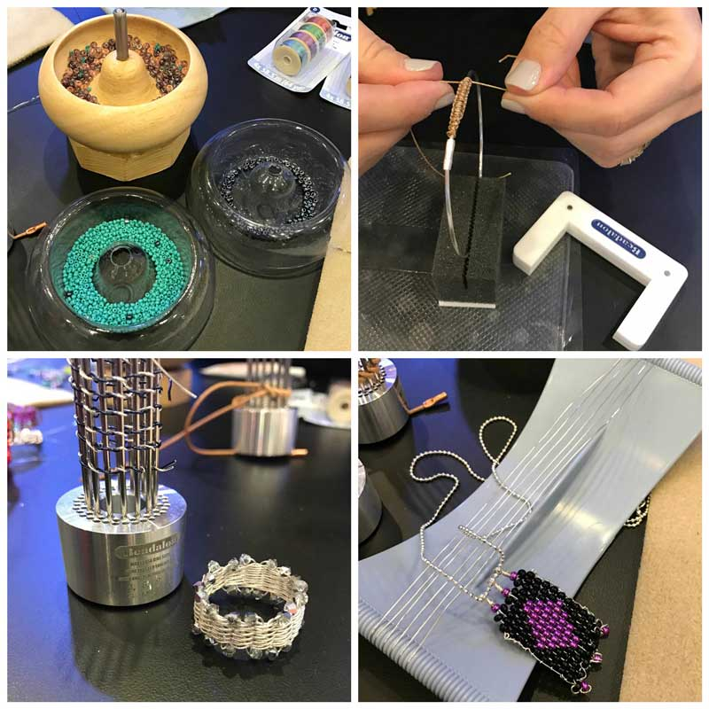 Jewelry-Making and Beading Supplies, Fun Finds, and Adventures From the Road. New Beadalon tools - Spin-N-Bead inserts, Katie Hacker Knotting Tool, Ring Weaver Tool by Kleshna, Baby Jewell Loom by Julianna Avelar
