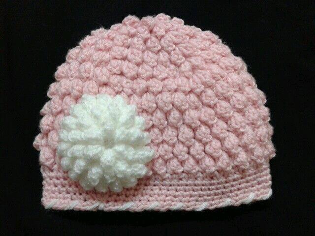 Popcorn Stitch Free Crochet Hat Pattern