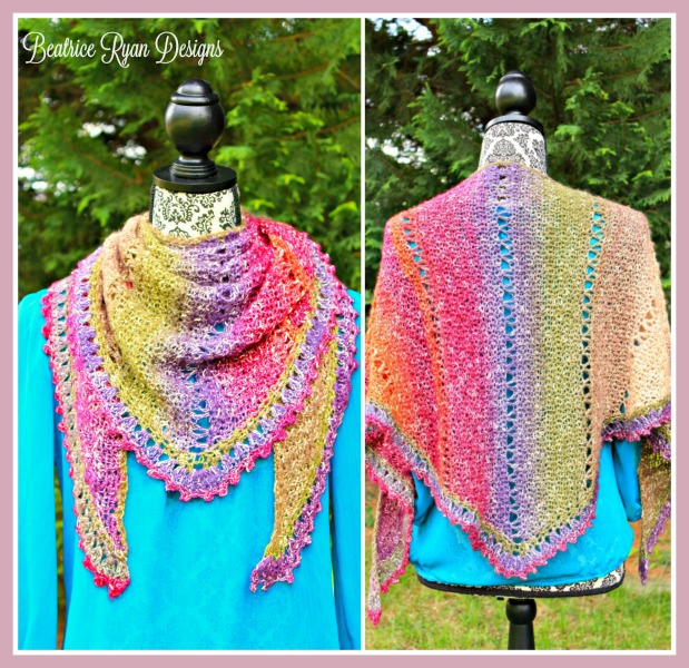 Free Crochet Shawl Patterns For Spring : Amazing Grace Simple Spring Crochet Wrap