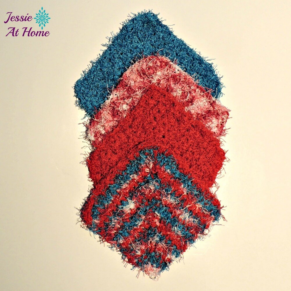 This crochet waschloth is fun and easy.