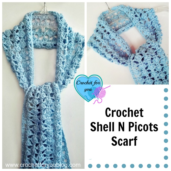 This free crochet scarf pattern is beautiful.