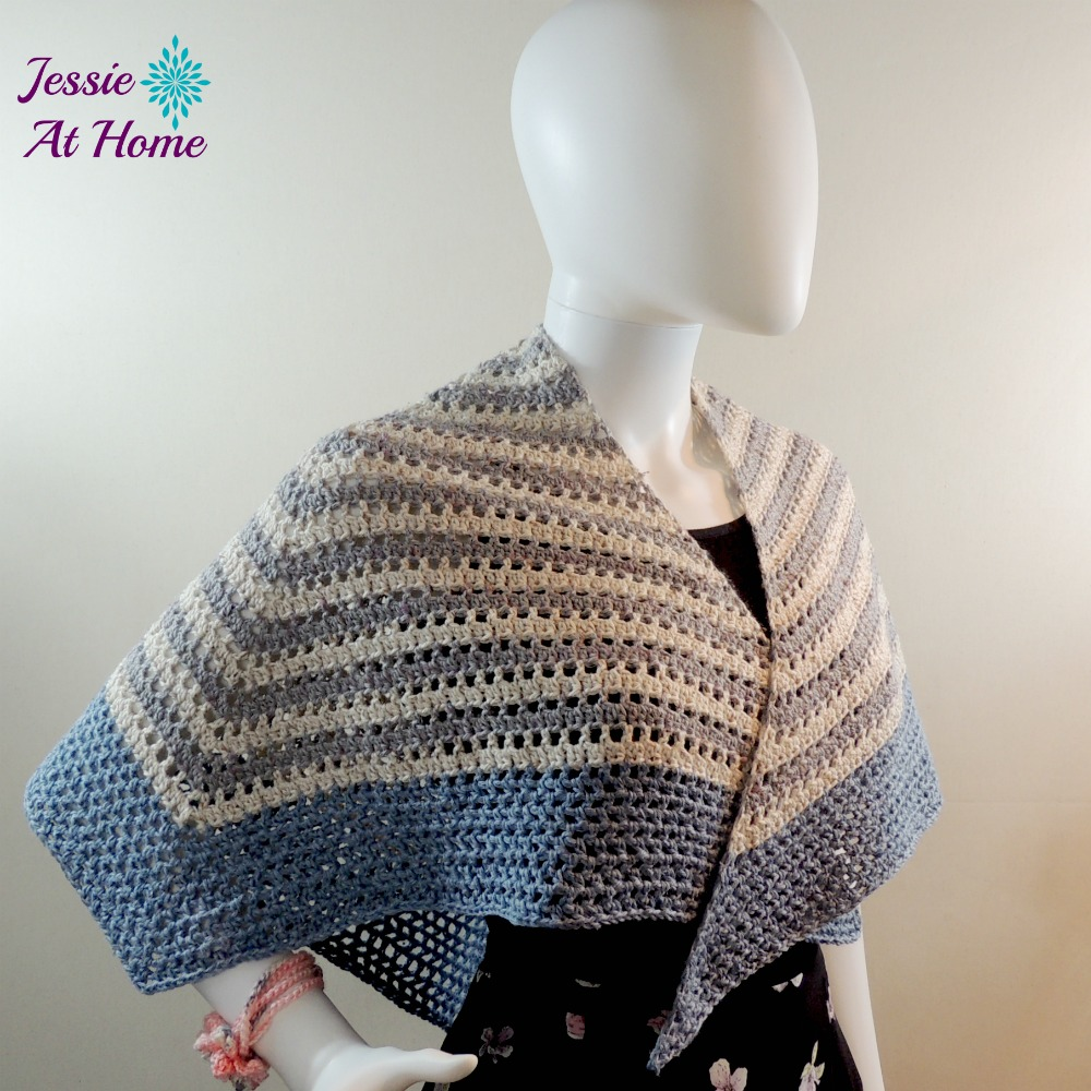 This crochet shawl is an easy tribute to math.