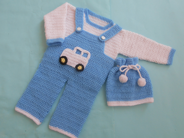This crochet romper set is adorable and you can embellish it with so many different creations.