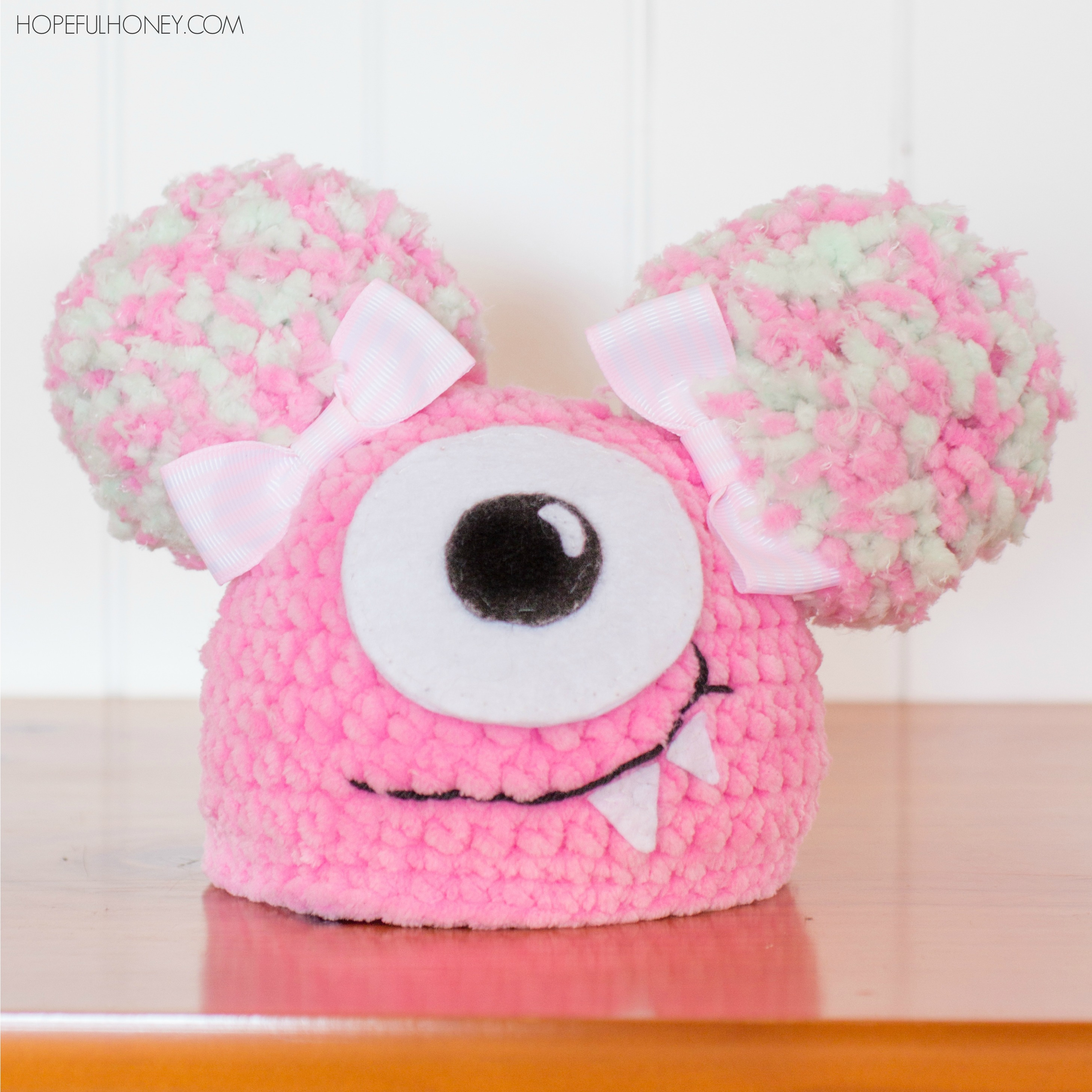 Newborn Fuzzy Monster Hat Interweave