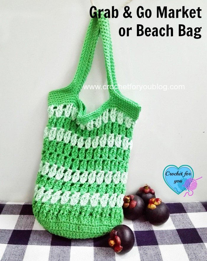 This crochet market bag is perfect for your special finds.