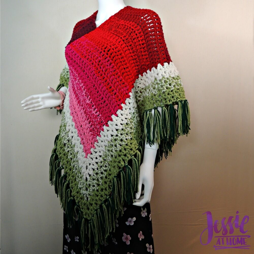 This crochet poncho will definitely turn heads.