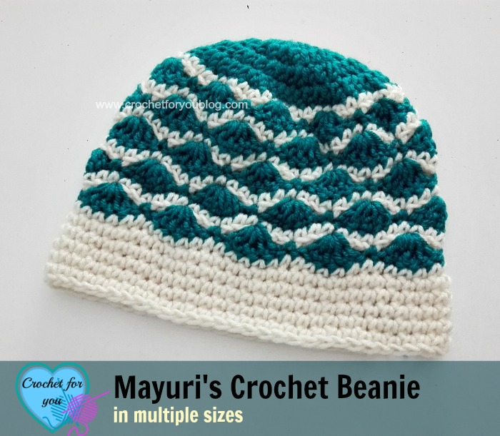 This crochet beanie is a quick and easy crochet project for a fun colorwork accessory.
