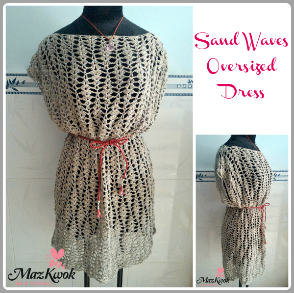This crochet dress is a great over a simple shift.