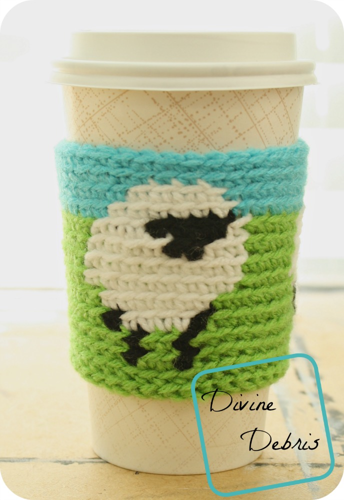 Dancing Sheep Crochet Mug Cozy
