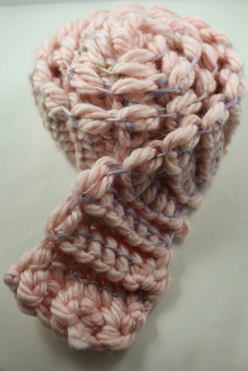 A great chunky crochet scarf.
