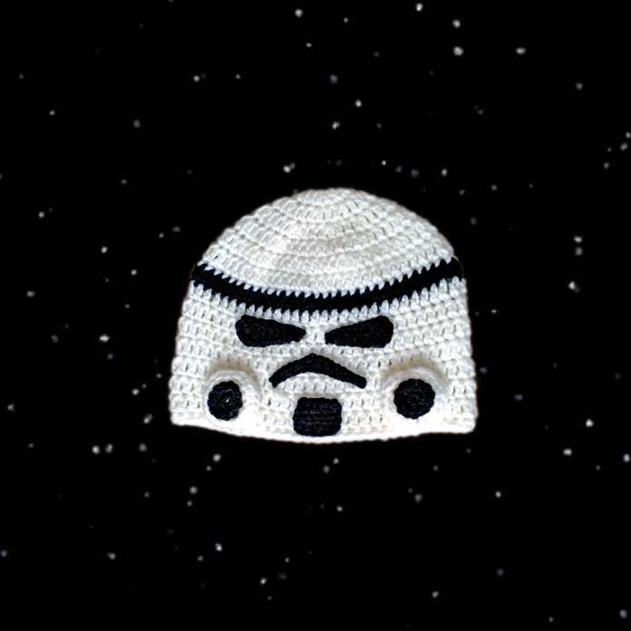 Star Wars Storm Trooper Inspired Beanie Interweave